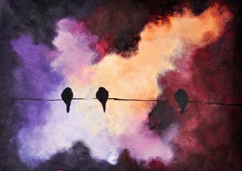 Birds on a Wire Dark