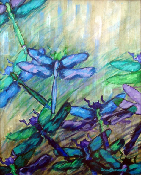 Blue_and_Green_Dragonflies