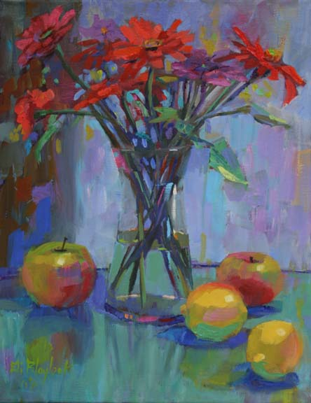 APPLES, LEMONSAND RED FLOWERS