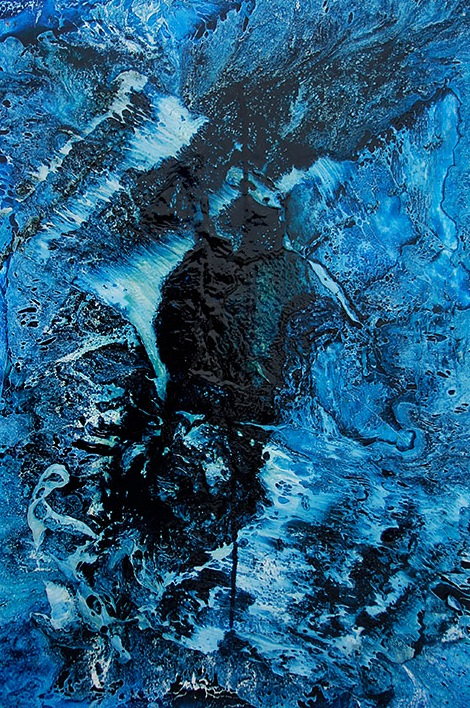 dark-blue-with-drip-oil-and-acrylic-on-canvas-24-x-36-2013