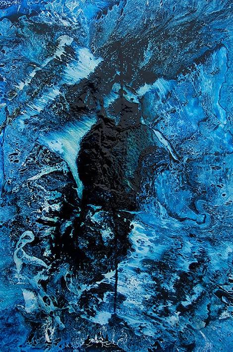 dark-blue-with-drip-oil-and-acrylic-on-canvas-24-x-36-2013